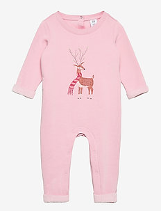 Baby Cozy Reindeer One-Piece - långärmade - misty rose