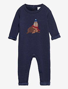 Baby Cozy Walrus One-Piece - långärmade - navy uniform