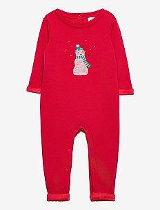 Baby Cozy Snowman One-Piece - langärmelig - fr modern red
