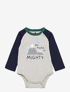 Baby Mix and Match Graphic Bodysuit - langärmelig - light heather grey