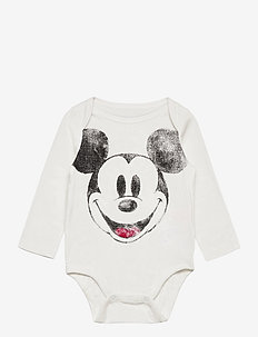 babyGap | Disney Mickey Mouse Mix and Match Bodysuit - långärmat - new off white