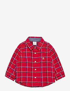 Baby Plaid Flannel Shirt - skjortor - modern red 2