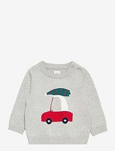 Baby Graphic Crewneck Sweater - gebreid - light heather grey b08