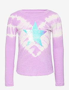 Kids Flippy Sequin Graphic T-Shirt - langärmelige - purple rose