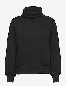 Vintage Soft Turtleneck Sweatshirt - sweatshirts - true black