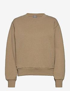 Vintage Soft Balloon Sleeve Crewneck Sweatshirt - sweatshirts - deerfield