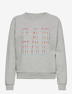 Gap Logo Raglan Crewneck Sweatshirt - sweatshirts - b10 grey heather