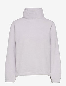 Fleece Turtleneck Sweatshirt - mid layer jackets - starlight
