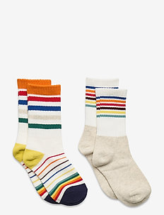 Kids Happy Stripe Tube Socks (2-Pack) - chaussettes - multi