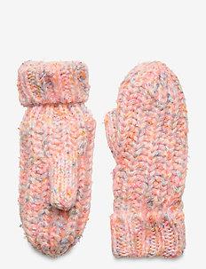 Kids Knit Mittens - vinterkläder - bright pink neon