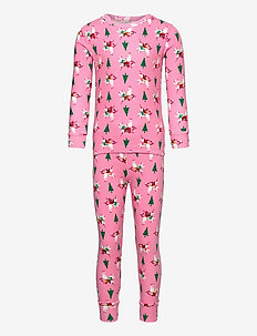 Kids Holiday Unicorn PJ Set - sets - parisian pink