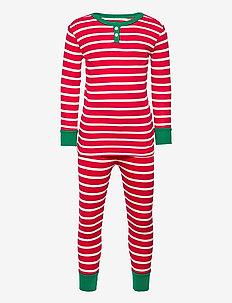 Kids Unity Stripe PJ Set - sets - fr modern red