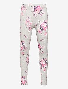 Kids Print Leggings - leggings - grey floral