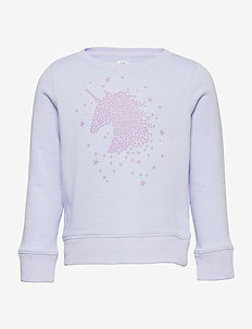 Kids Recycled Graphic Crewneck Sweatshirt - sweatshirts - sunrise blue 924