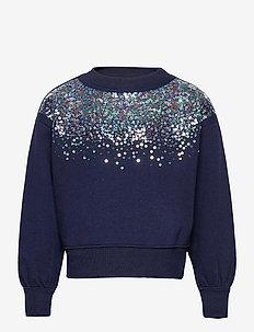 Kids Sequin Graphic Crewneck Sweatshirt - sweatshirts - navy uniform