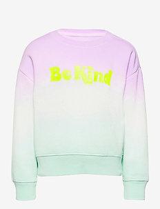 Kids Dip-Dye Graphic Crewneck Sweatshirt - sweatshirts - purple tie dye
