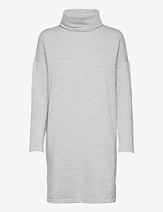 Heather Cowlneck Dress - vapaa-ajan mekot - heather grey