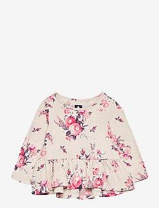 Toddler Mix and Match Peplum Shirt - langärmelige - oatmeal floral