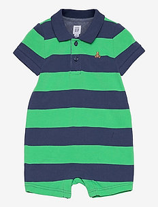Baby Polo Shorty One-Piece - kurzärmelig - parrot green 385