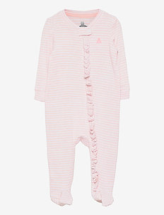 Baby First Favorite Stripe One-Piece - langärmelig - pink heather stripe