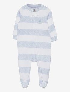 Baby Stripe One-Piece - langärmelig - blue heather