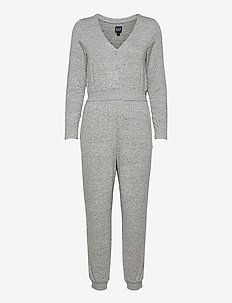 Softspun Cozy Jumpsuit - jumpsuits - light grey heather