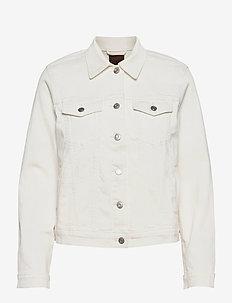 Icon Denim Jacket With Washwell™ - jeansjackor - ivory frost