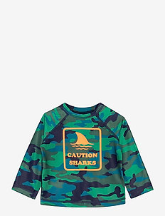 Toddler Recycled Graphic Rash Guard - uv tops - camo