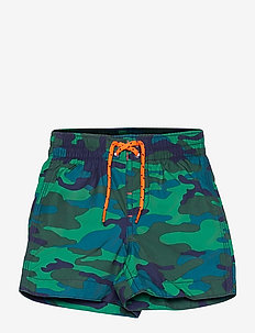 Toddler 100% Recycled Polyester Graphic Swim Trunks - badehosen - green camo