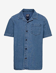 Kids Denim Shirt - shirts - medium wash