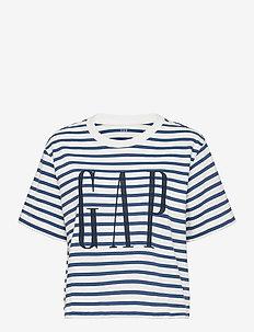 GAP BOXY SS TEE - t-shirts - navy stripe