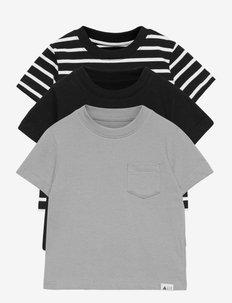 Toddler 100% Organic Cotton Mix and Match T-Shirt (3-Pack) - kortärmade - true black