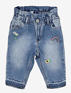 Toddler Pull-On Just Like Mom Jeans with Washwell™ - jeans - embrod blue bell