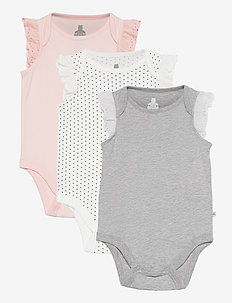 Baby 100% Organic Cotton Mix and Match Bodysuit (3-Pack) - korte mouwen - multi