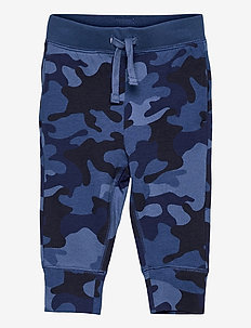Toddler 100% Organic Cotton Mix and Match Camo Pull-On Pants - trousers - blue camo