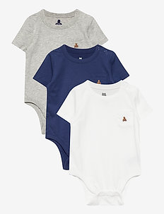 Baby 100% Organic Cotton Mix and Match Bodysuit (3-Pack) - clothing - multi