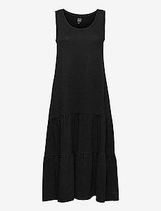 Sleeveless Tiered Maxi Dress - summer dresses - true black v2 2