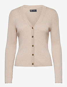 Ribbed Cardigan - cardigans - oyster 083