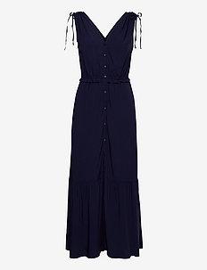 Ruched Shoulder Maxi Dress - hverdagskjoler - navy uniform