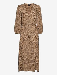 Lenzing™ Ecovero™ Flounce Midi Wrap Dress - sommerkjoler - leopard print