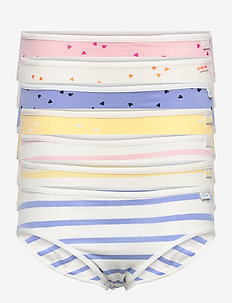 Kids 100% Organic Cotton Heart Bikini Briefs - bottoms - multi