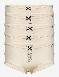 Kids 100% Organic Cotton Hipster Bikini (5-Pack) - onderstukken - multi