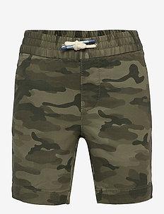 Kids Easy Pull-On Shorts - shorts - green camo