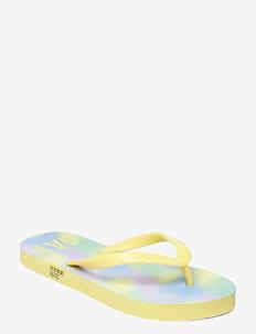 Kids Flip Flops - slipper - yellow tie dye