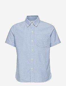 Kids Uniform Oxford Short Sleeve Shirt - shirts - oxford blue