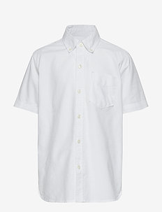 Kids Uniform Oxford Short Sleeve Shirt - WHITE 2