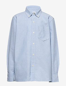Kids Uniform Oxford Long Sleeve Shirt - skjorter - oxford blue
