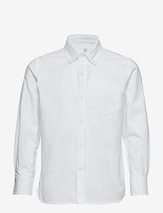 Kids Uniform Oxford Long Sleeve Shirt - WHITE 2