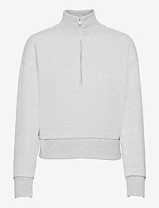 Vintage Soft Half-Zip Sweatshirt - sweatshirts - light heather grey