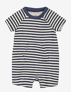 Baby Stripe Shorty One-Piece - korte mouwen - blue shade
